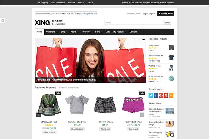 Xing Business / ecommerce WordPress Theme