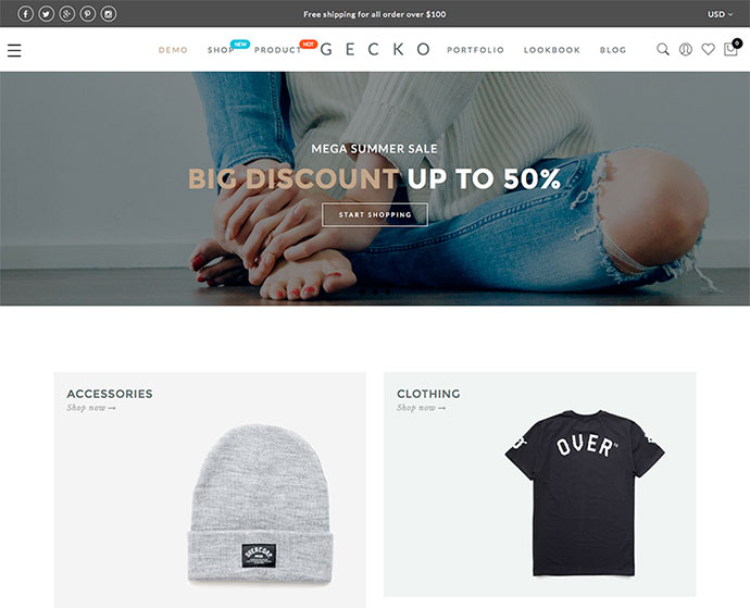 Gecko Powerful Ajax WooCommerce Theme