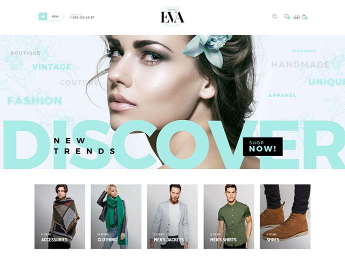 Eva Responsive WooCommerce Theme