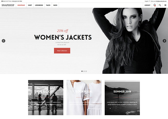 Snapshop Responsive WooCommerce WordPress Theme - Enhance Your Shop Website