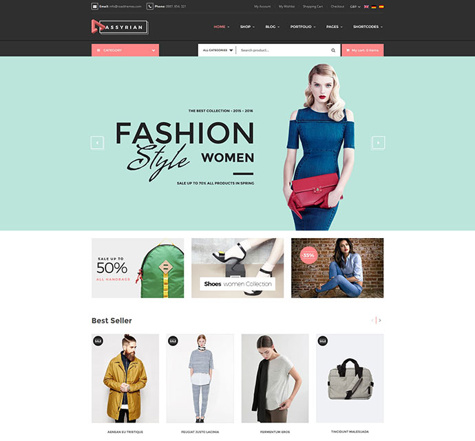 Assyrian Responsive Fashion WordPress Theme