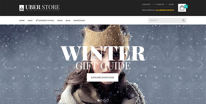 UberStore – Responsive E-Commerce Theme