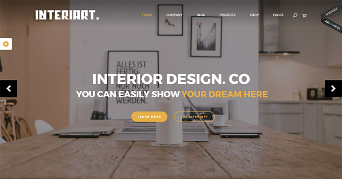 InteriArt - Furniture & Interior WordPress Theme