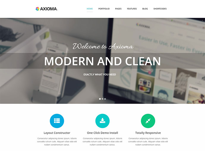 Axioma | Responsive WP Theme for SEO and Web-design Agencies