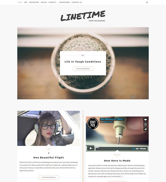 LineTime | Modern Timeline WordPress Blog Theme