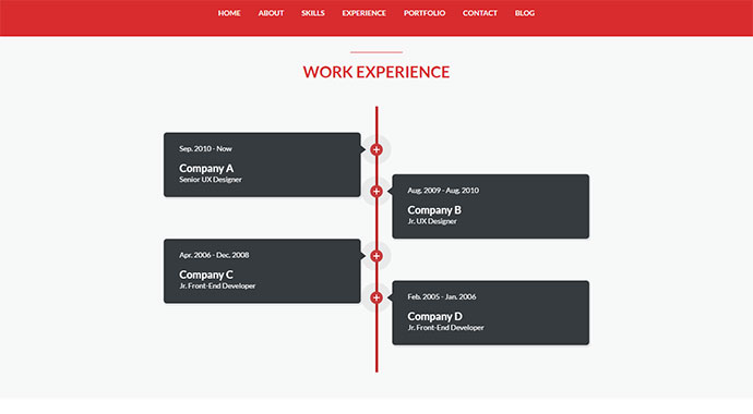 One WordPress - Responsive, Personal Resume