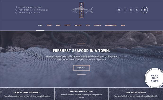 Salmon: Restaurant WordPress Theme