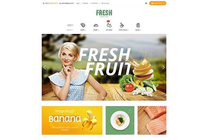 Fresh - Food and Restaurant WooCommerce WordPress Theme