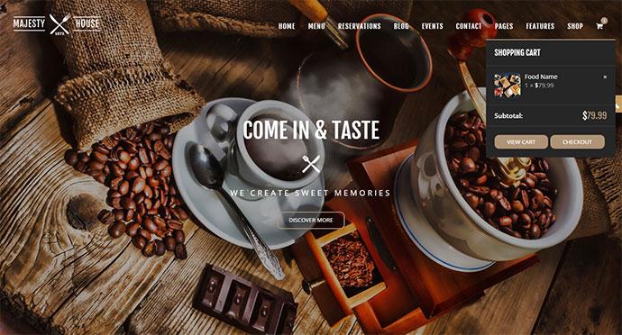Majesty - Restaurant WooCommerce WordPress Theme