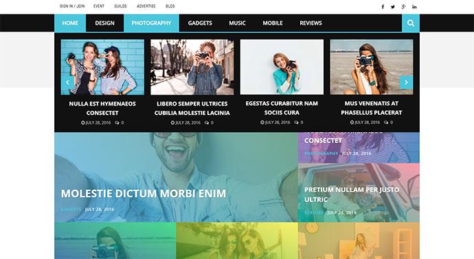 Magneto - Multi Concept Newspaper / News / Magazine / Blog WordPress Theme