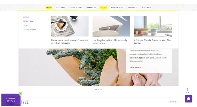 Artmag - Clean WordPress Blog and Magazine Theme