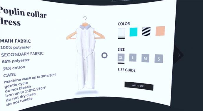 VR e-Commerce solution