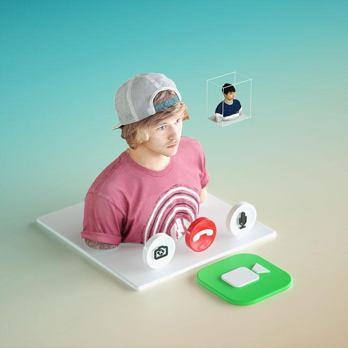 Daily Renders: Dimensional UI