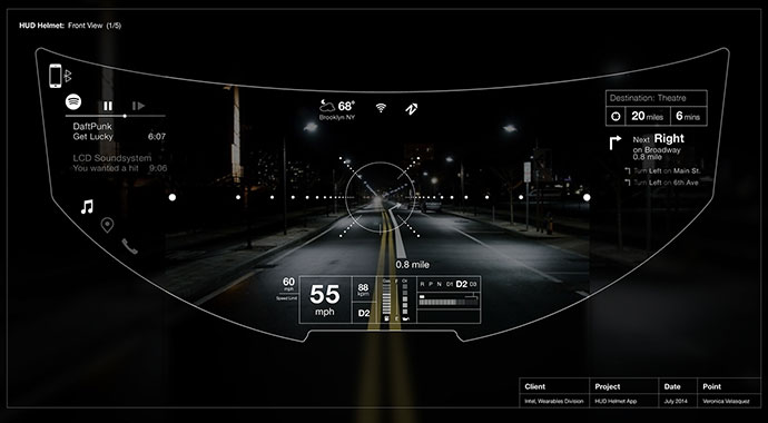 Helmet UI / Augmented Reality Interface