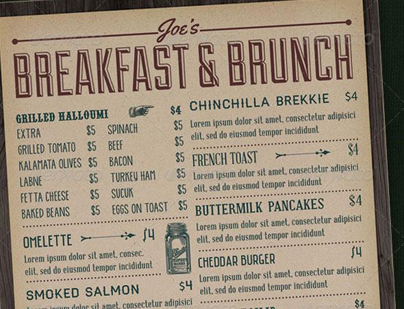 30 modern retro amp vintage restaurant menu templates web