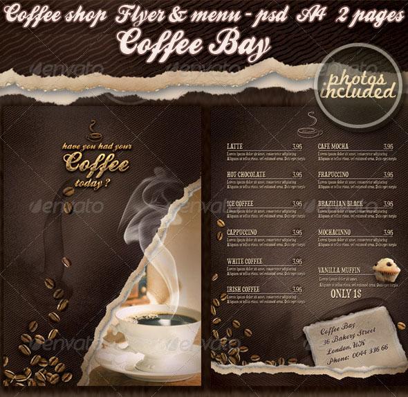 Coffee shop flyer & menu - photos included