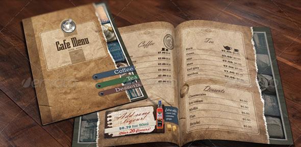 30 modern retro  u0026 vintage restaurant menu templates