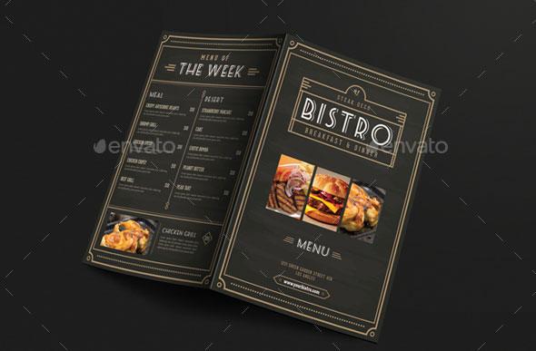 Elegant Bifold Restaurant Menu