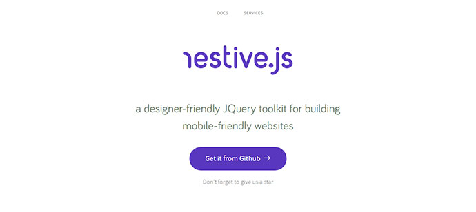 a designer-friendly JQuery toolkit for building mobile-friendly websites