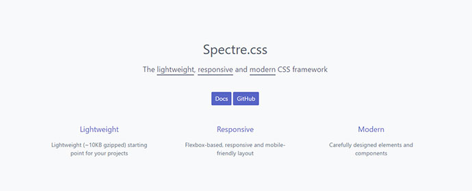 The lightweight, responsive and modern CSS framework