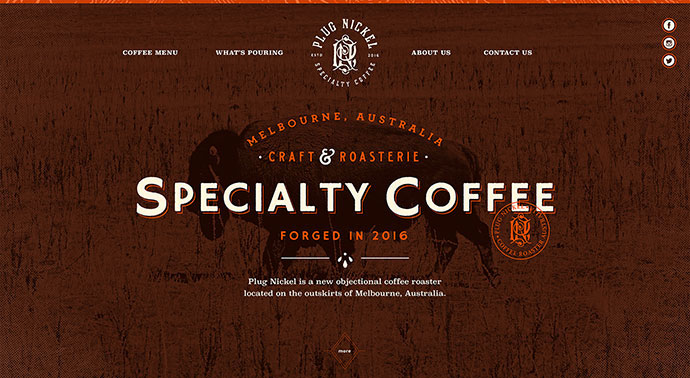 Plug Nickel Specialty Coffee Website!