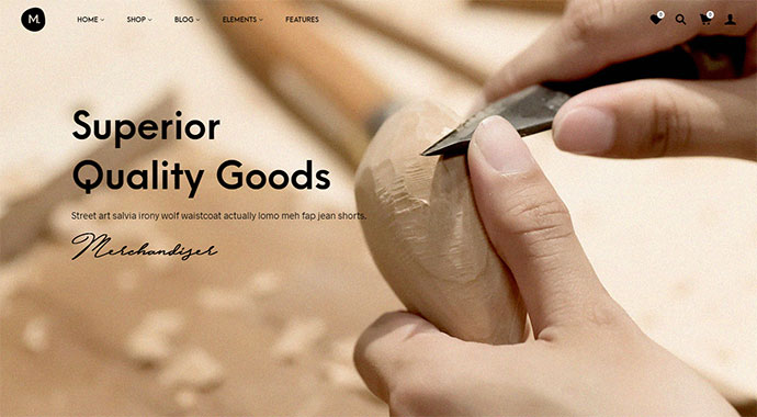 Merchandiser - eCommerce WordPress Theme for WooCommerce