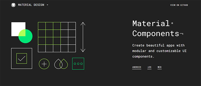Material Components for the web