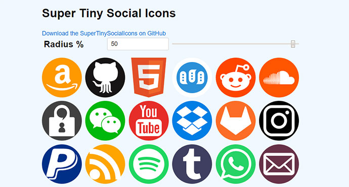 Super Tiny Social Icons