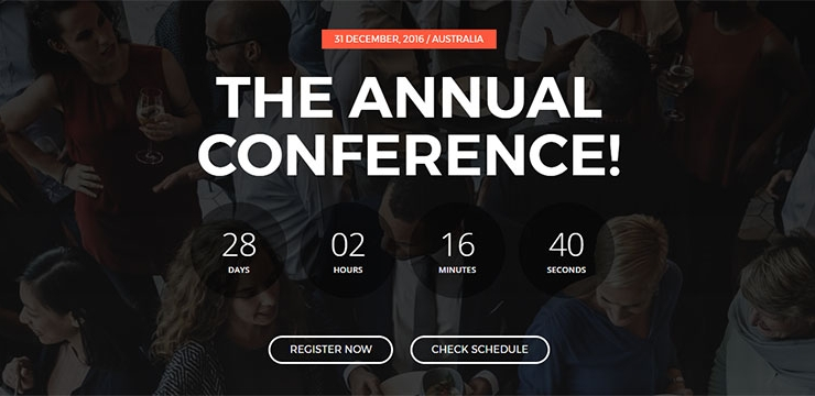 20 Spectacular Event Landing Page Templates