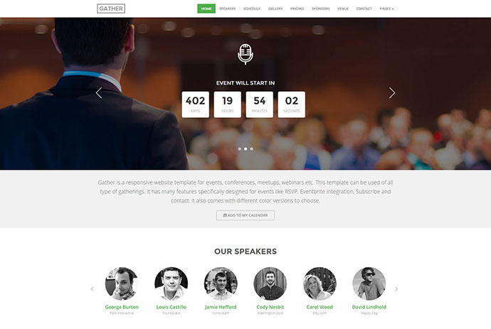 20 spectacular event landing page templates web graphic design event landing page template gather pronofoot35fo Image collections