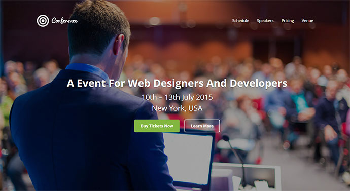 Conference - Event CTA/Registration Landing Page
