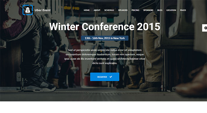 Uber Event - Conference & Event Landing Page