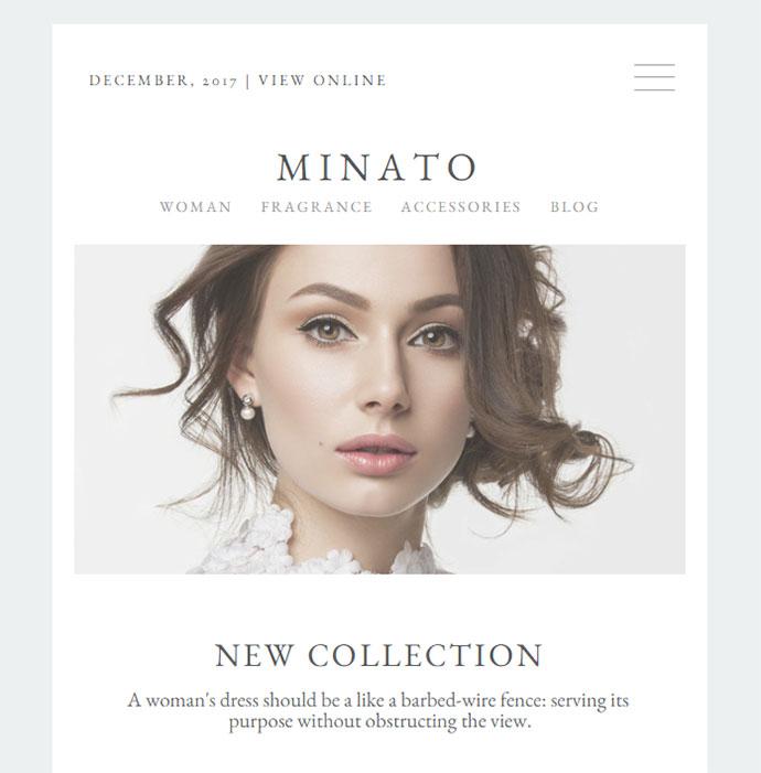 Minato - Fashion Email Template + Builder Access