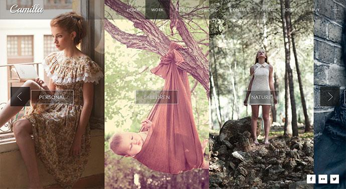 Camilla - Horizontal Fullscreen Photography Theme!