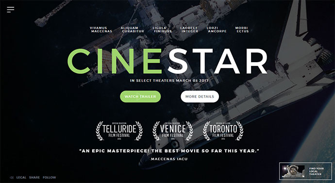 Film Marketing Responsive WordPress Theme