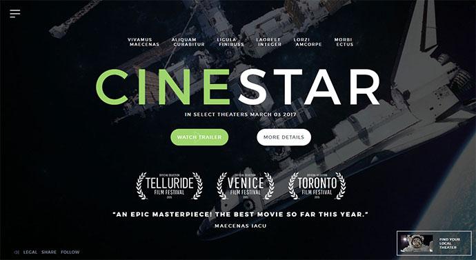 Film Marketing Responsive WordPress Theme