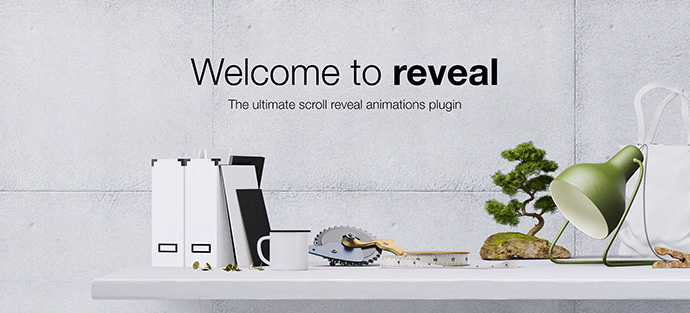 Reveal - Scroll Reveal Animations jQuery Plugin