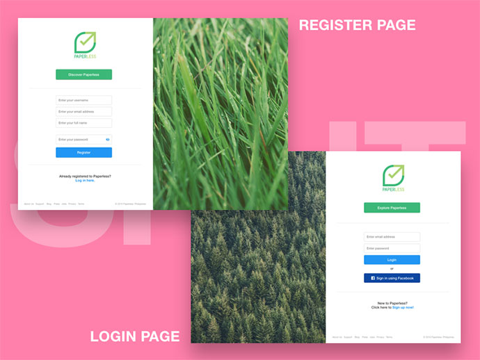 Anti-Pattern | Login/Register split layout