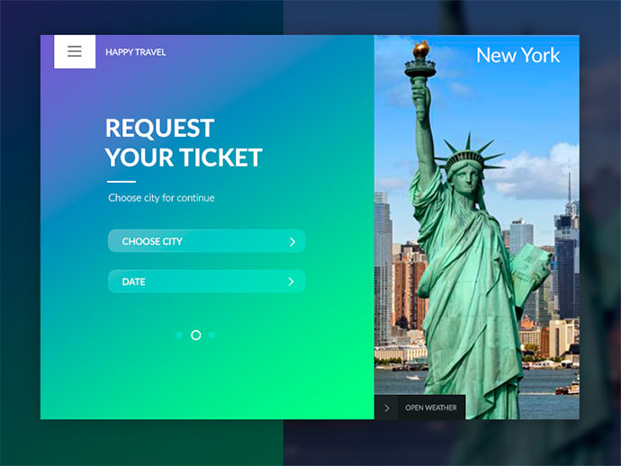 Request Your Ticket UI