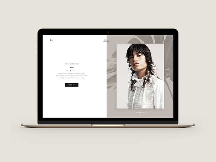 Product Page for Fashion Store