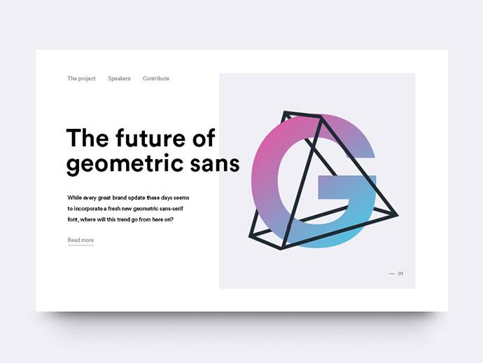 Geometric sans serif