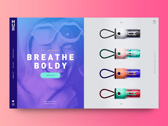 Hue Inhaler Website Concept