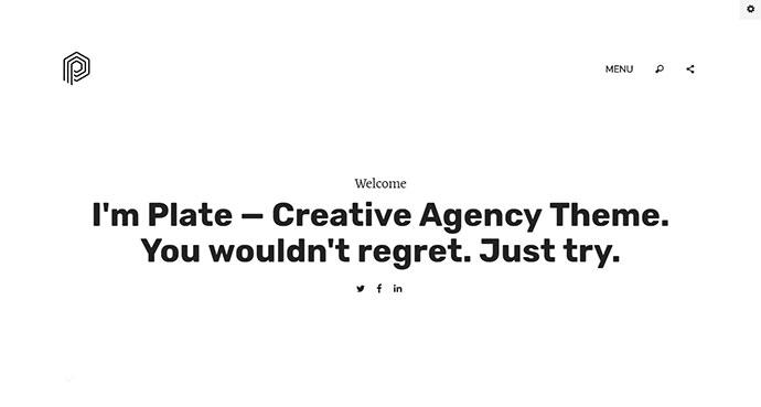 Plate - Creative Agency Theme