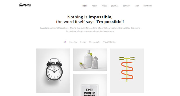 Kuverta - Minimal Portfolio WordPress Theme
