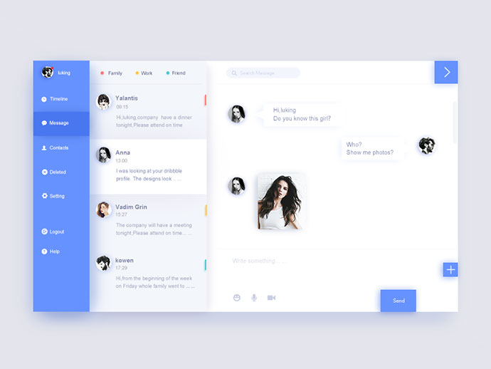 40 Inspiring Chat UI Designs | Web & Graphic Design | Bashooka