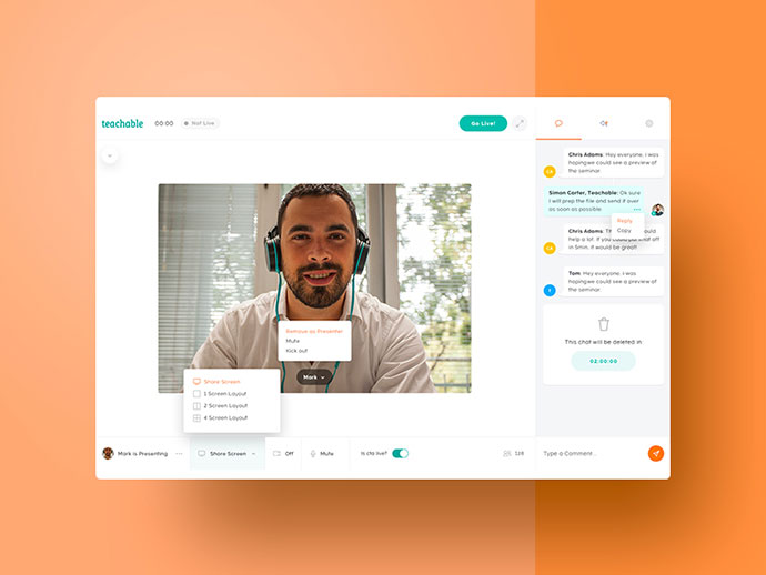 Teachable - Video Chat App