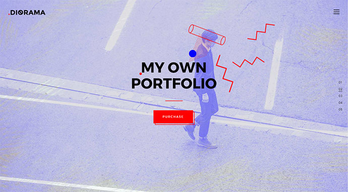 Diorama - A Bold Portfolio Theme for Agencies and Freelancers