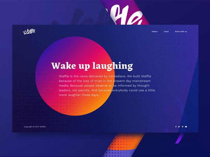 Startup Landing Page Design Exploration