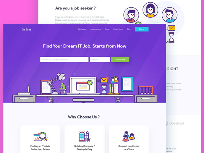 IT Recruitment Homepage