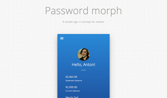 UX 2 : Password morph